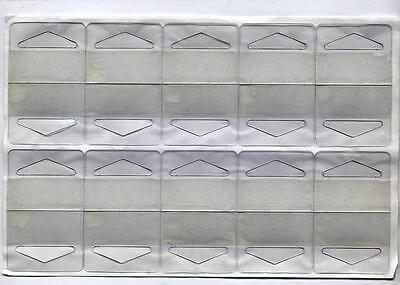 100 NEW Self-Stick Clear Plastic Hang Tabs Slotted Adhesive Tags Hangers