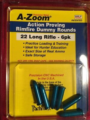 A-Zoom 22 LR Dummy Rounds, 6 Pk
