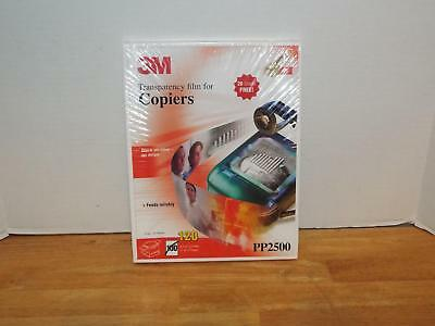 NEW 3M PP2500 Transparency Film for Copiers. 120 per box. SEALED.