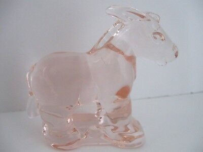 Mosser Pale Pink Donkey (Burro) Solid Transparent (See Through) Glass