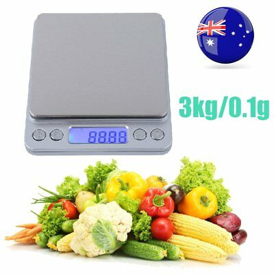 3000g 0.1g Precise Kitchen Food Scale Stainless Steel Digital LCD Postal Scales