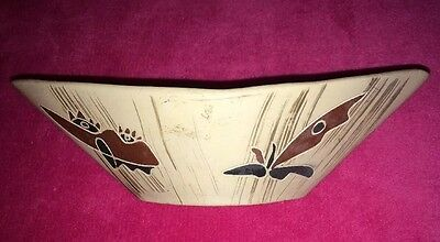RARE☆ANTIQUE/Vintage☆Ceramic☆Bowl☆Hand☆Made☆Hand☆Painted☆Signed☆Israel☆BEAUTIFUL