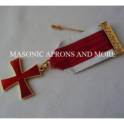Masonic Regalia-Masonic Knights Templar (KT) Breast Jewel.