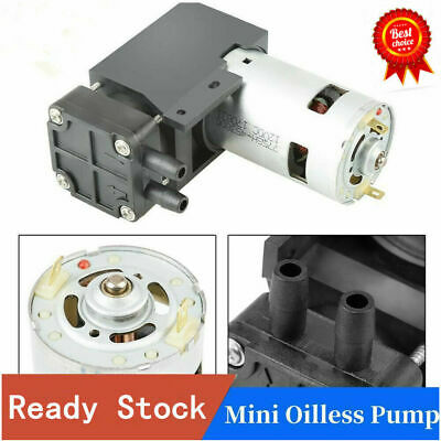 40L/min DC12V 42W Mini Small Oilless Vacuum Pump -85KPa Vacuum Degree Durable