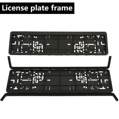 WILLKEY European Glossy Black Number Plate Holder Licence Plate Surround Frame #