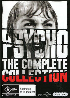 Psycho (Complete Collection) NEW PAL/NTSC Arthouse 8-DVD Set Alfred Hitchcock