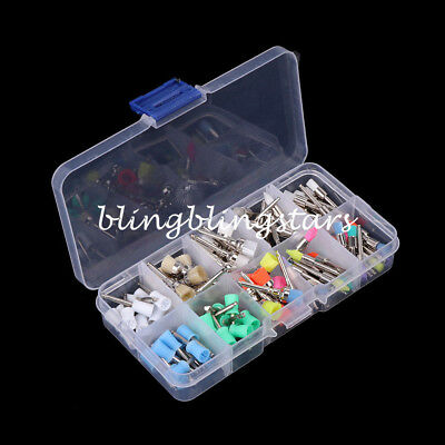 100Pcs Mixed Color Nylon Latch Flat Polishing Dental Prophy Brushes Cup Kit
