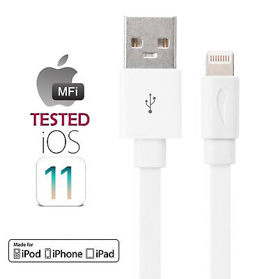 Premium Flat Tange-Free Apple MFI Certified Lightning to USB Cable Seven colors