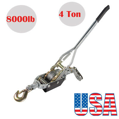 4 Ton 8,000lb Come Along Hoist Ratcheting Cable Winch Hand Puller Crane Pulling