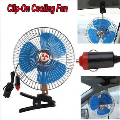 12v 8.7 Inch Portable Dashboard Vehicle Auto Car Cooling Oscillating Fan Clip-on