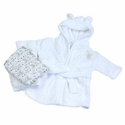 Baby Girls Boys Newborn Gift Set Dressing Gown Swaddle Muslin Square Baby Shower