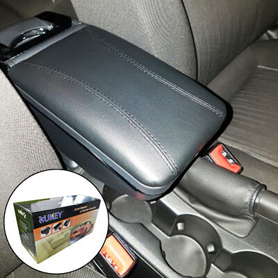 Armrest Universal Fit Most Car Centre Black Leather Storage Box