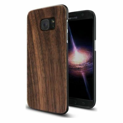 Unique Real Walnut Shockproof Slim Protective Cover for Galaxy S7 B9U3