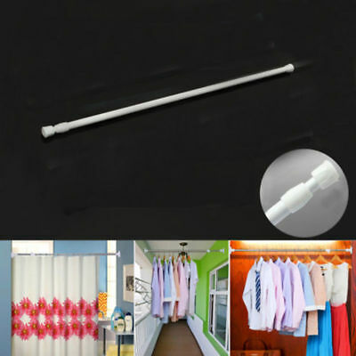 Extendable Rod Rods Rail Pole Curtain Telescopic Spring Loaded Net Voile Tension