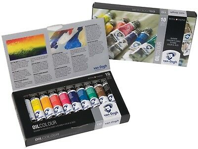 Royal Talens Van Gogh Oil Colour 10 x 20ml Tube Paint Set