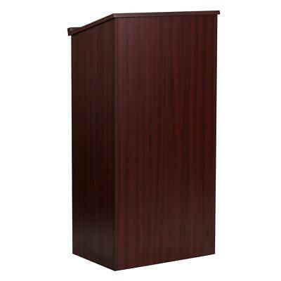 Stand-Up Wood Lectern in Mahogany