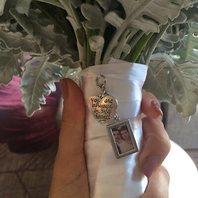 DIY Double Sided Blank Custom Wedding Bouquet Photo Memory Charm Bridal