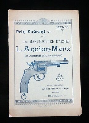 lie'ge Ancion-Marx, Prix-Courant 1897-98, Liege Arms - Printed in French (1541)