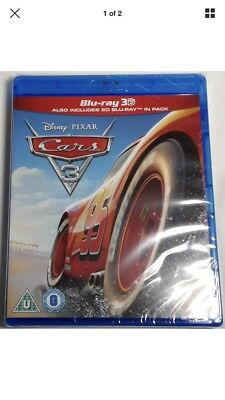 CARS 3 Brand New 3D (and 2D) Blu-Ray Movie 2017 Disney Pixar Film (Third Movie)