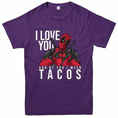 I Love You Deadpool T-Shirt, I Mean Tacos Deadpool Inspired Spoof Tee Top