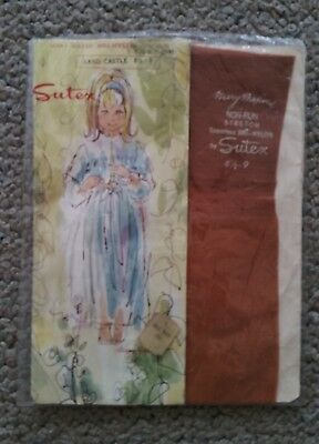 Genuine vintage new in packet Sutex seamless nylon stockings 1950's