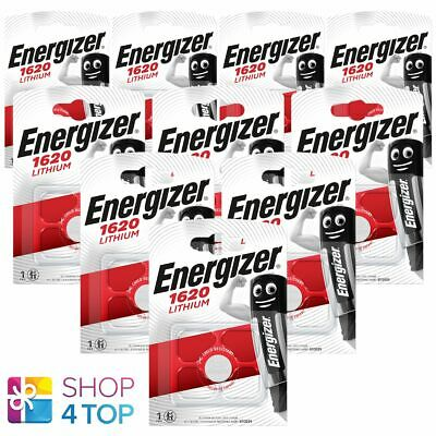 10 Energizer Cr1620 Lithium Batteries 3V Coin Cell Dl1620 Exp 2025 New