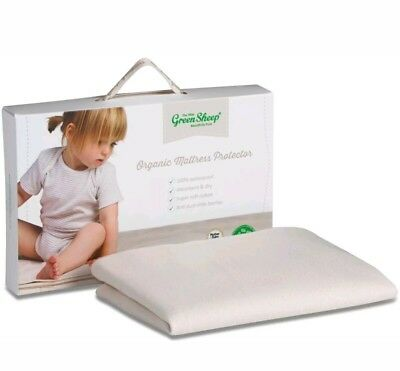 * The Little Green Sheep ORGANIC COT/COT BED MATTRESS PROTECTOR 70x140cm 1,17