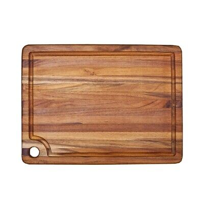 """Teakhaus by Proteak Cutting Board Marine Collection Rectangle Edge Grain 18"""" X 1"""