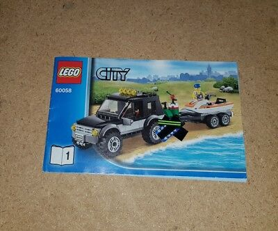 Lego City Instructions Only Number 8052 Book 1 Container Truck