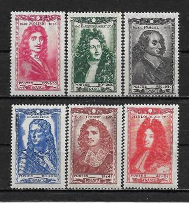 "France 1944. Complete Series 6 new stamps **. ""Famous people""            (6193)"