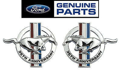 1999 Mustang Genuine Ford Pair 35th Anniversary Chrome Tribar Emblems - LH & RH