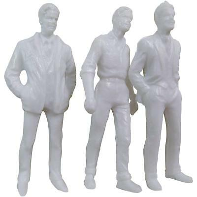 Wee Scapes Architectural Model White Styrene Figurines human males 1/2 in. pack