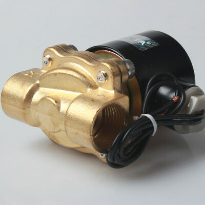 """New -LS 1/2"""" Brass Electric Solenoid Valve 110V AC Water Air Normally Closed N/C"""
