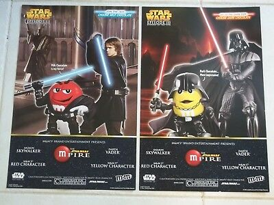 2-M&M POSTERS Double Sided DARTH VADER& ANAKIN SKYWALKER Star Wars Empire M-Pire