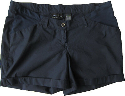 New Womens Blue Maternity NEXT Shorts Size 18 16 Regular RRP £20