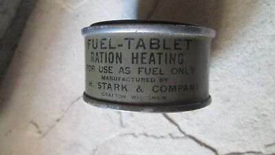 Vintage US Army Fuel Tablet Ration Heating Can  ~ Full Unopened
