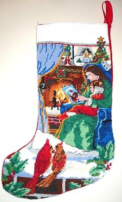 cozy christmas mother child christmas stocking finished completed