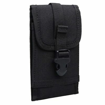 Cell Phone Pouch Case Belt Bag For Smartphone 5.5inch Black L7E2