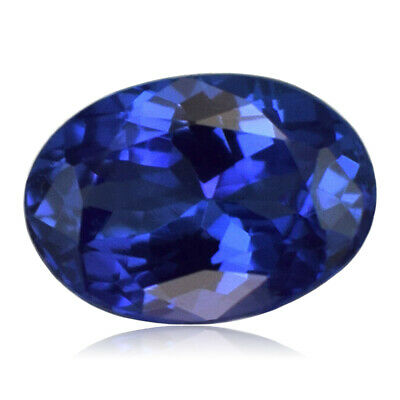 Oval 0.98 Cts 100%Natural Tanzanite Top Quality  Deluxe AAAAA Color D'Block NR