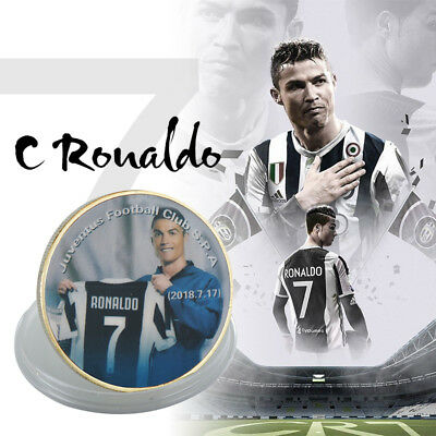 WR Cristiano Ronaldo Gold Plated Coin Juventus New CR7 Soccer Season Boy Gifts