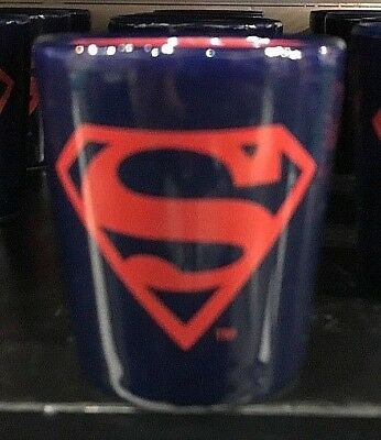 Six Flags Magic Mountain Dc Comics Superman Two Tone Shot Glass New