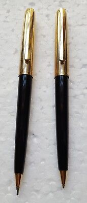 Vintage Pelikan 30 Rolled Gold And Black Ball Point & Pencil From Germany