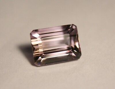 13.2ct Bolivian Ametrine - Lovely Flawless Emerald Cut Gem Stone