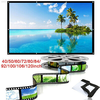 "4:3 with Hanging Hole 40/72/100/106"" Folded Projection Screen Movie Screen"