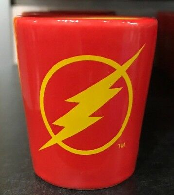 Six Flags Magic Mountain Dc Comics The Flash Two Tone Ceramic Shot Glass New