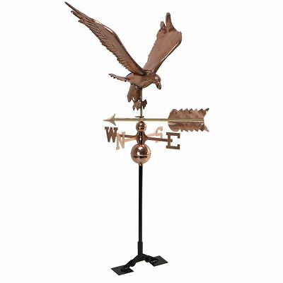 Copper Polished eagle Weathervane Weather Vane Roof bracket Mounting Hardware