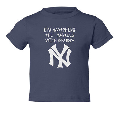 Watching the Yankees With Grandpa Kids Toddler T-Shirt