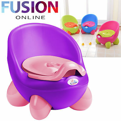 Baby Toilet Easy Clean Kids Toddler Potty Training Chair Seat Removable Lid