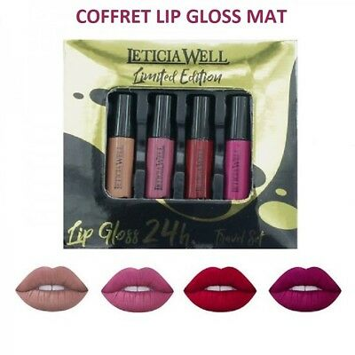 Lot De 4 Lip Gloss Mat Rouge A Levres Maquillage Tenue 24H Mac238