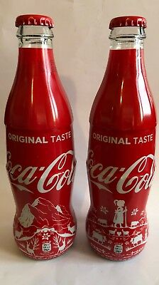 Coca-Cola  Swiss set  2018 wrapped bottles very very rare